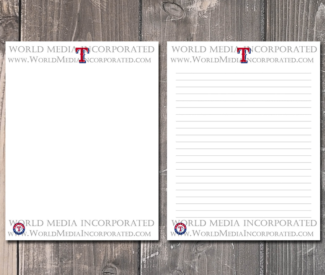 Texas Rangers: MLB Printable Paper & Writing Paper - Instant Download (Fast instant delivery)