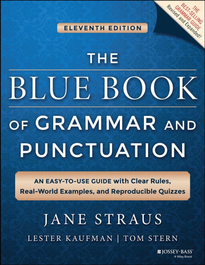 The Blue Book of Grammar and Punctuation: An Easy-to-Use Guide.., 11th Edition - eBook, (Phone, Tablet, Computer) Fast Instant delivery
