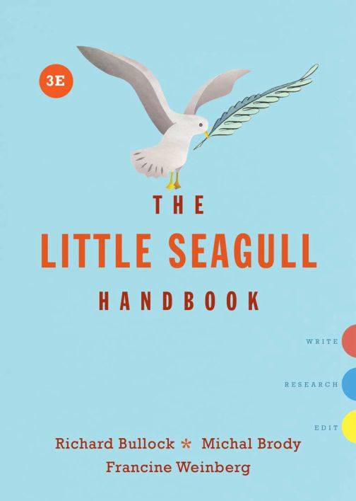 The Little Seagull Handbook: 3rd Edition - eBook, (Phone, Tablet, Computer) Fast Instant delivery