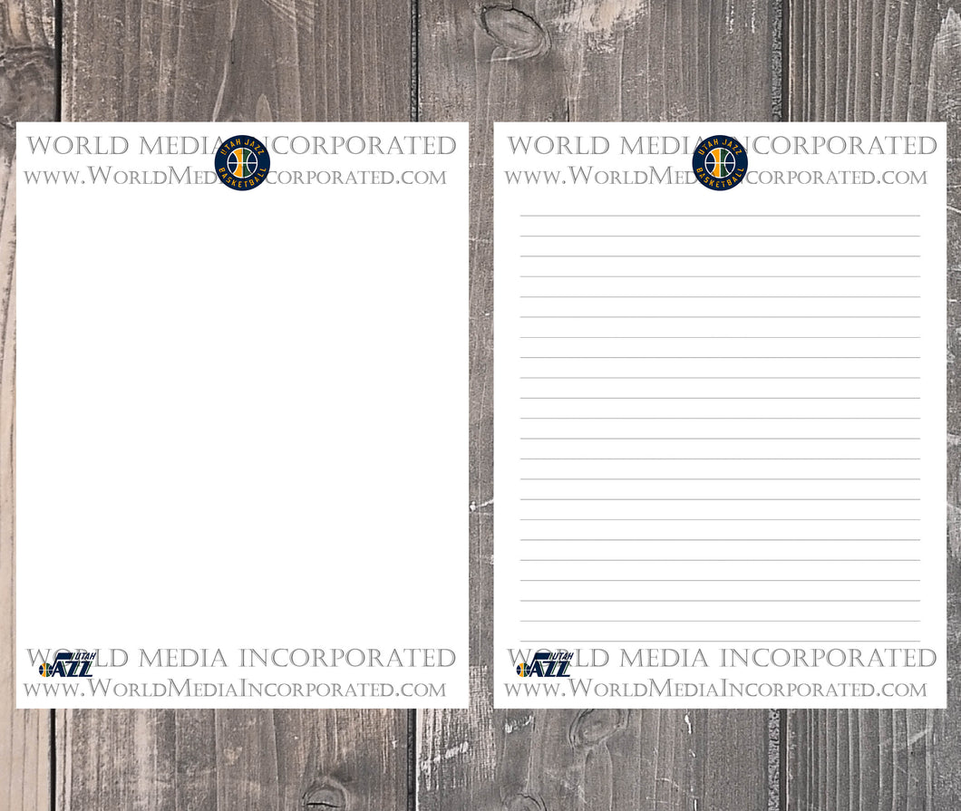 Utah Jazz: NBA Printable Paper & Writing Paper - Instant Download (Fast instant delivery)