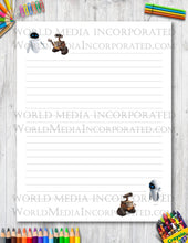 Wall-E - Printable Paper - Coloring, Diary, Art, Scrapbook