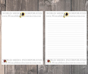 Washington Redskins: NFL Printable Paper & Writing Paper - Instant Download (Fast instant delivery)