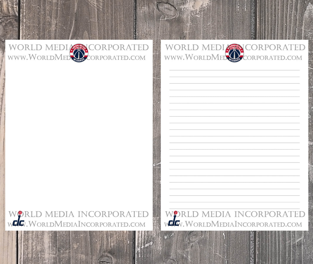 Washington Wizards: NBA Printable Paper & Writing Paper - Instant Download (Fast instant delivery)
