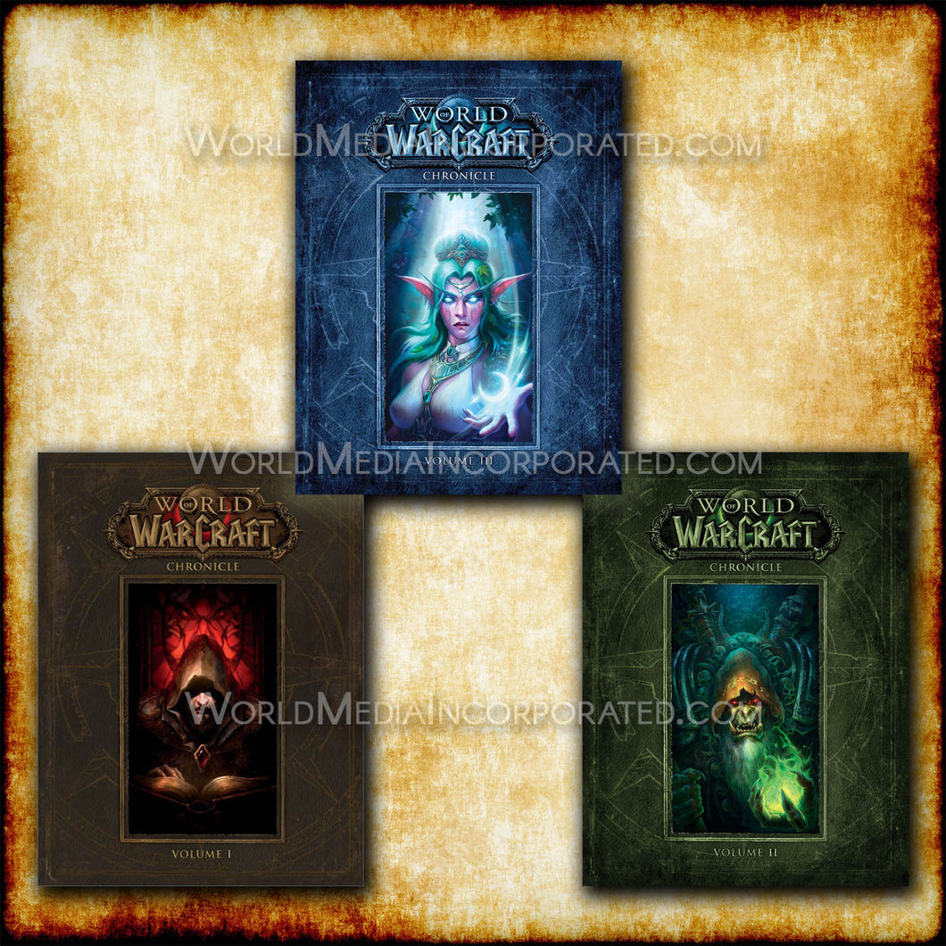 World of Warcraft: Chronicle Collection Volumes 1,2,3 - eBook, (Phone, Tablet, Computer) Fast Instant delivery