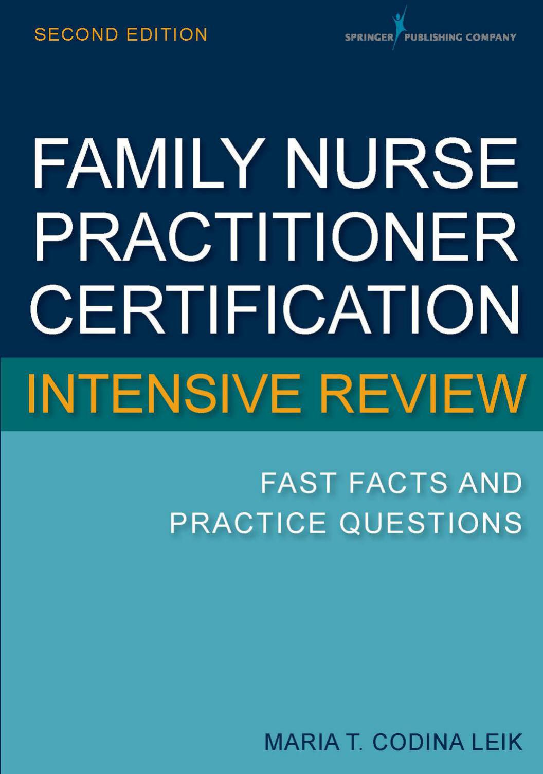 Family Nurse Practitioner Certification Intensive Review: Second Edition - eBook, PDF (Fast instant delivery)