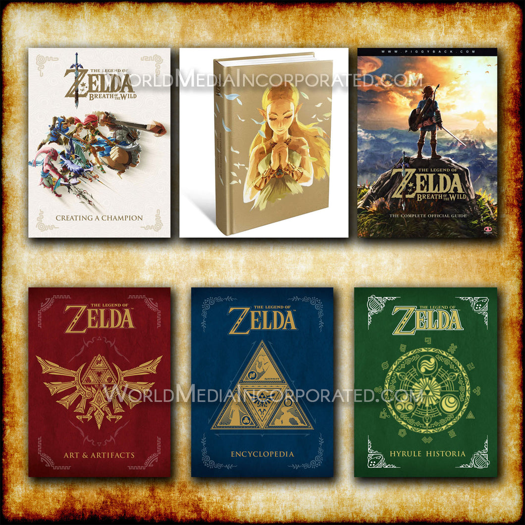 The Legend of Zelda: The complete guide collection 6-book set - eBook, (Phone, Tablet, Computer) Fast Instant delivery