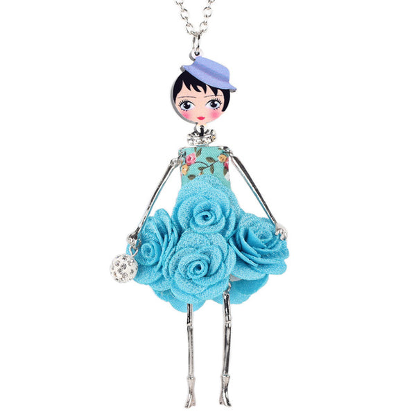 9 trendy styles cool metal fabric fashion doll necklacespendants 9 trendy styles cool metal fabric fashion doll necklacespendants aloadofball Image collections