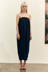 Gather Dress Black