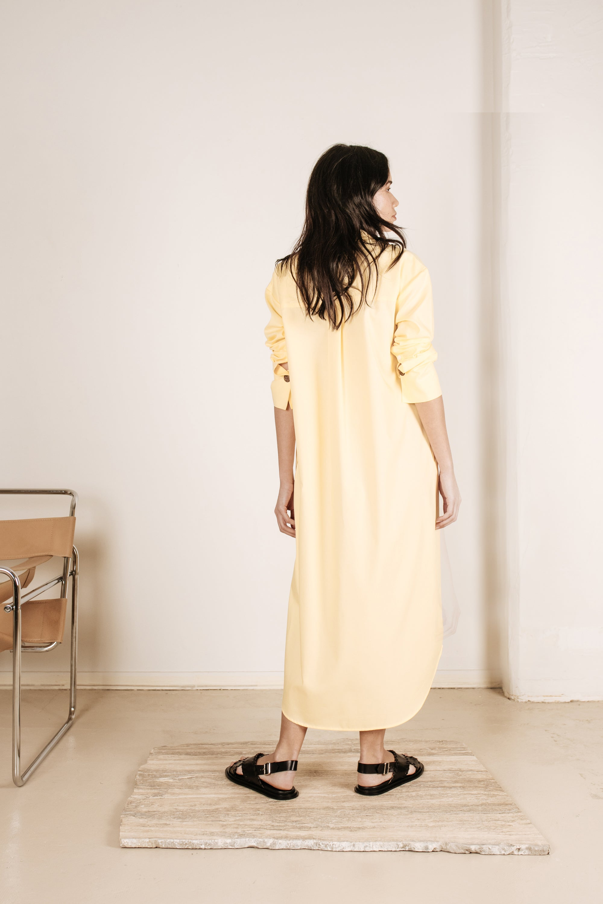 Kate Shirt Dress Lemon