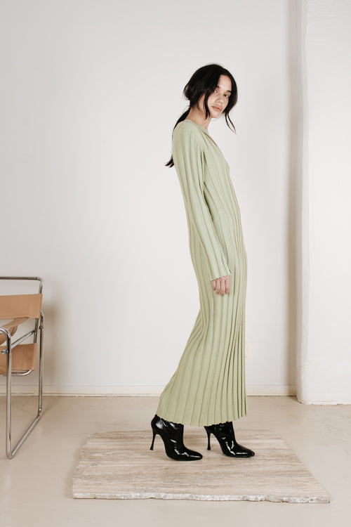 Knitted Midi Dress Sage