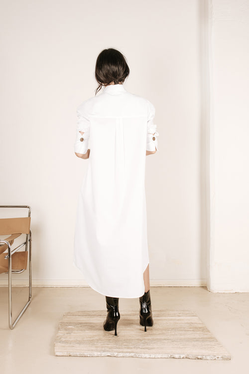 Kate Shirt Dress White