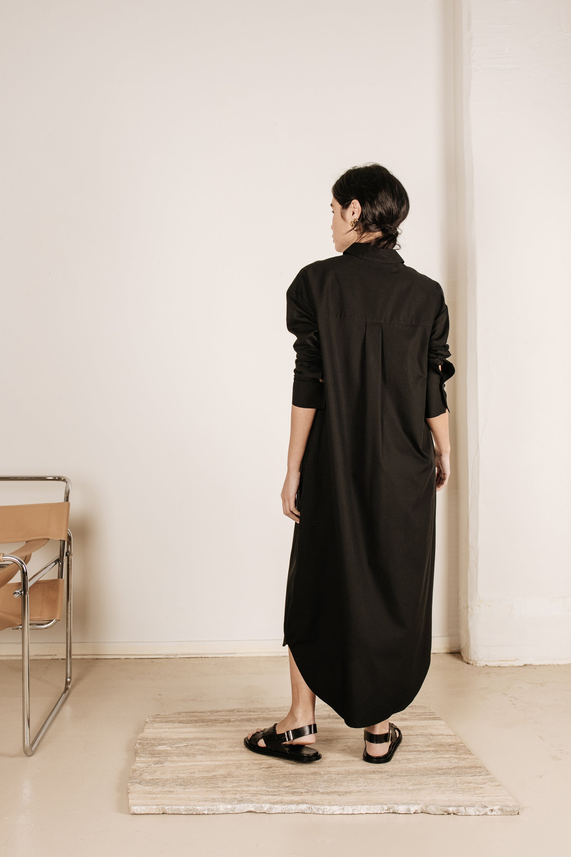Kate Shirt Dress Black