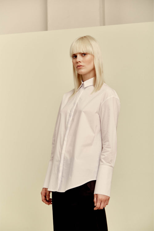 Kate Shirt White Poplin