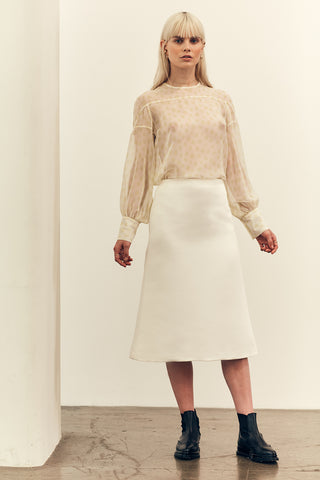 Wool Zip Knit Ivory