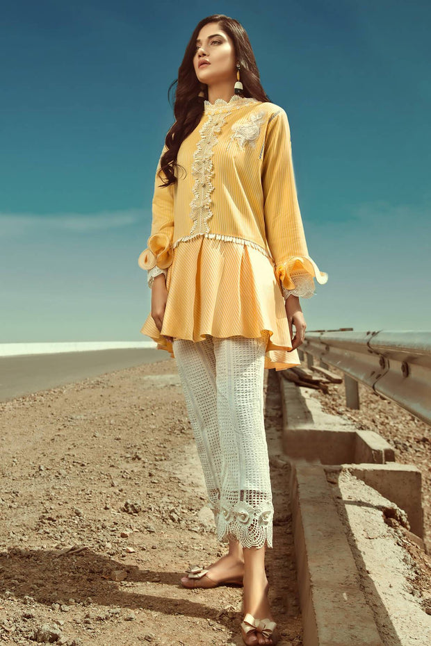 Butter Cup Yellow- RTWSS1930- REVERIE by Ammara Khan