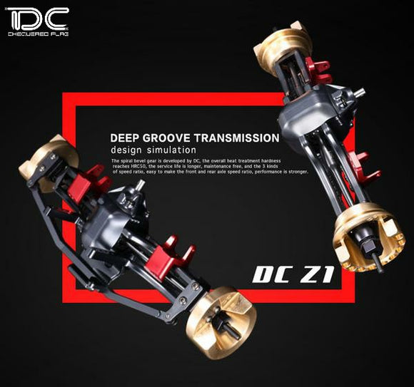 DC RC 1:10 D1-Z1 Front&Rear Axle Assembly Kit For DC1/SCX10/SCX10II DC-90211 (1pair)
