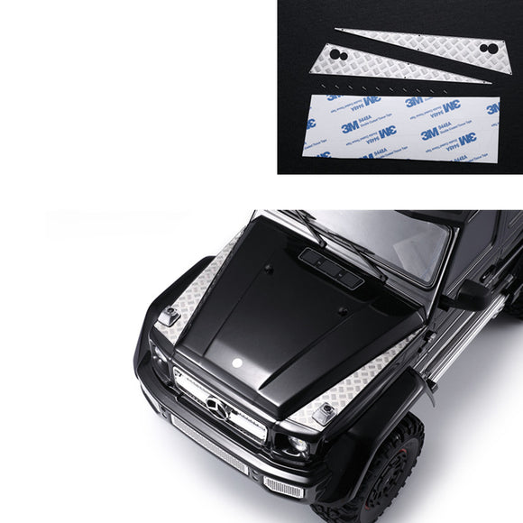 DJ TRX6 G63 TRX4 G500 Mercedes-Benz hood skid plate stainless steel decorative sheet#DJ-0748