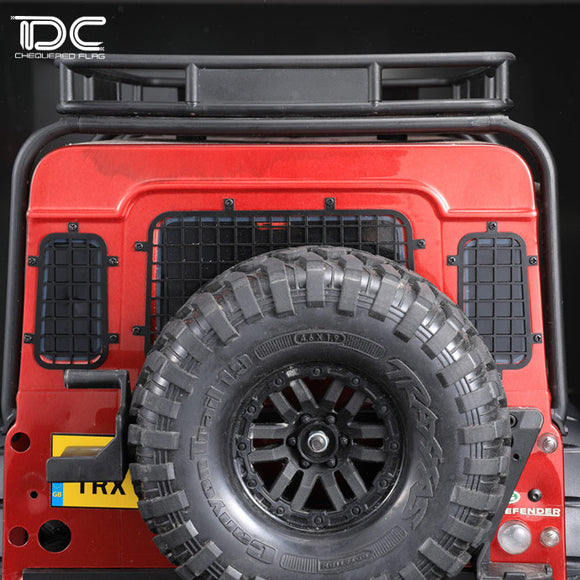 DC 1:10 climbing car TRAXXAS TRX4 rear window protection net metal mesh simulation piece DC-50884