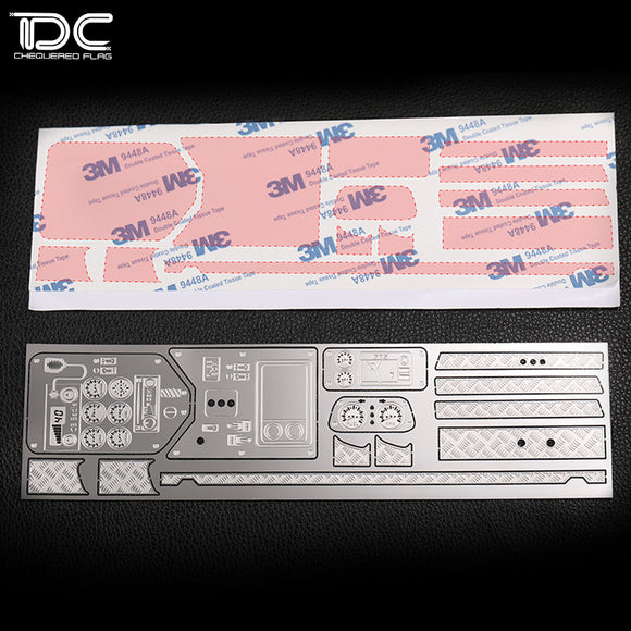 AXIAL WRAITH 90018 Phantom interior metal decorative sheet instrument panel metal band 3M glue DCA-0225