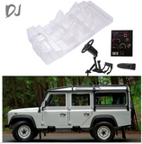 DJ Simulation Transparent Interior Trim For TRX4  LAND ROVER  DEFENDER  D90 D110 Cockpit Seat Dash Board Steering Wheel DJC-0617  (1KIT)