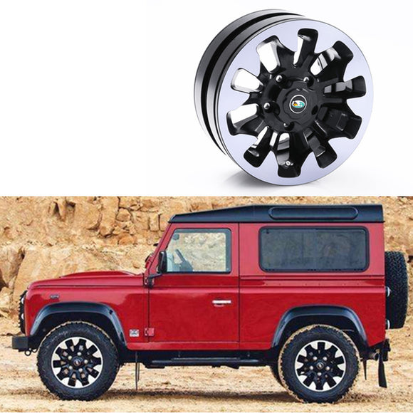 DJC-0611 1/10 scale 1.9inch rc crawler alu. wheel beadlock land rover defender 70th anniversary(2PCS)