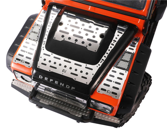 DJC-0663 DJ  TRAXXAS TRX-4 land rover defender bilayer bonnet protection antislip floor hood