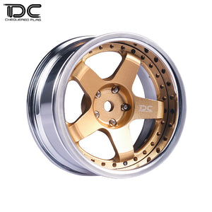 DC RC 1:10 DC-GF WHEEL +6&+9 OFFSET CHANGEABLE FOR DRIFT ON ROAD RWD AWD DCA-0026GD (4PCS)