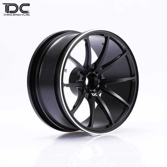 DC RC G25 Wheel Offset +6/+9 Black/Slive EP 1:10 RC Cars Drift On Road RWD AWD (4pcs)DC-50435