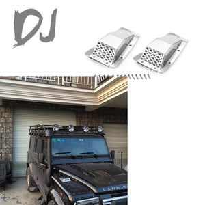DJ Land Rover Defender leaf cover decorative cover air inlet cover side air inlet A/B full metal modification trx4