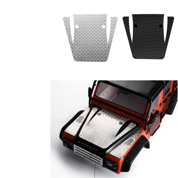 DJ TRX4 Land Rover Defender machine cover metal skid plate, hood stainless steel decorative sheet