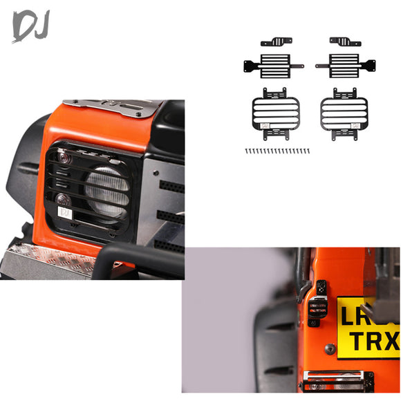 DJC-0662 Traxxas TRX4 D90/D110 Land Rover Defender full metal rear front lamp guards