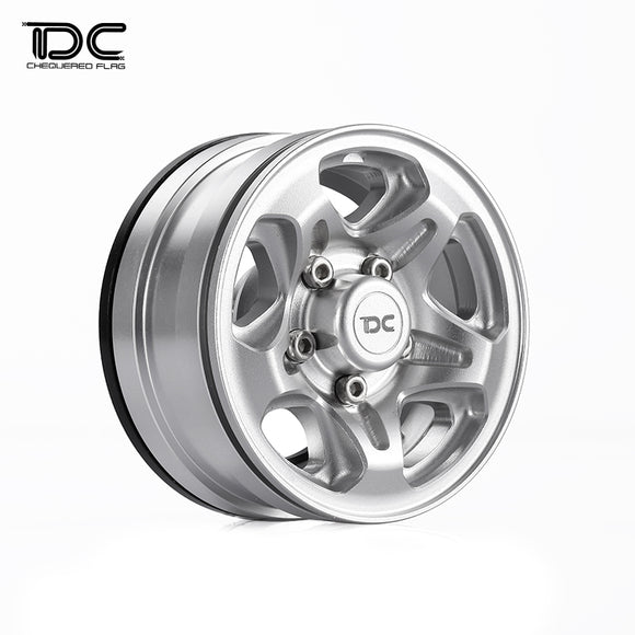 DC 1:10 RC 1.55inch CNC Machined Beadlock Crawler Wheel (LC76-5SPOKE Version) DC-50924(4pcs)
