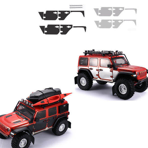 DJ AXIAL SCX10 III JEEP Wrangler body surrounded by metal decorative sheet anti-skid plate