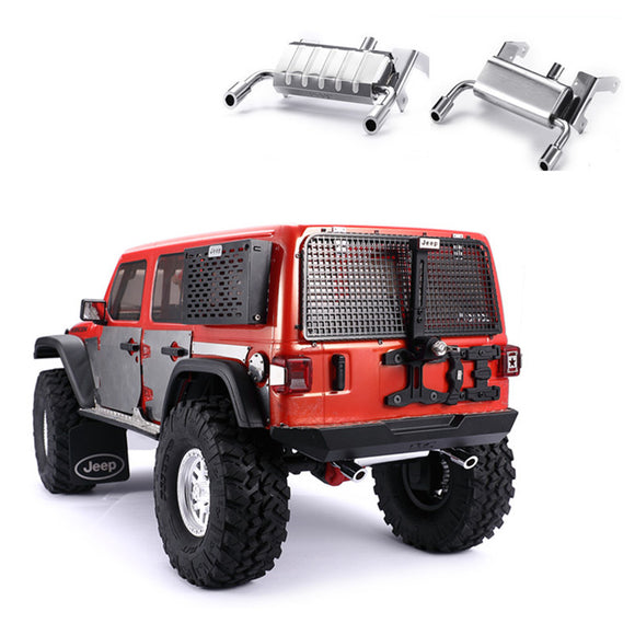 DJ AXIAL SCX10 III Wrangler Mango Double Outlet Metal Simulation Fuel Tank Exhaust Pipe
