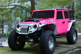 MS-6101 MS 1:9 scale 324mm customsized TOPFIRE Jeep wrangler JK clear body hood,fender flares,grille changable