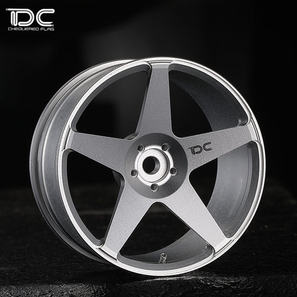 DC ROC Wheel Offset +6 Silver EP 1:10 RC Cars Drift On Road RWD AWD DC-50466 (4pcs)