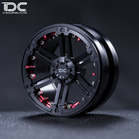 DC 1:10 RC 2.2/1.9inch CNC machined beadlock Crawler aluminum Wheel (T-01 Version)  DC-90058 (2pcs)