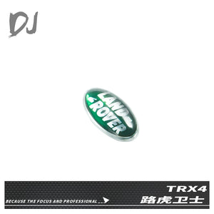 DC-DJ RC 1:10 METAL CAR LAND ROVER LOGO FOR RC SCALE CAR TRAXXAS TRX-4 DEFENDER DJX-1071 (1PCS)