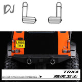 DC-DJ RC 1:10 All Metal Rear Lampshade Taillight Cover For TRAXXAS TRX-4 DEFENDER DJI-1019 (1pair)