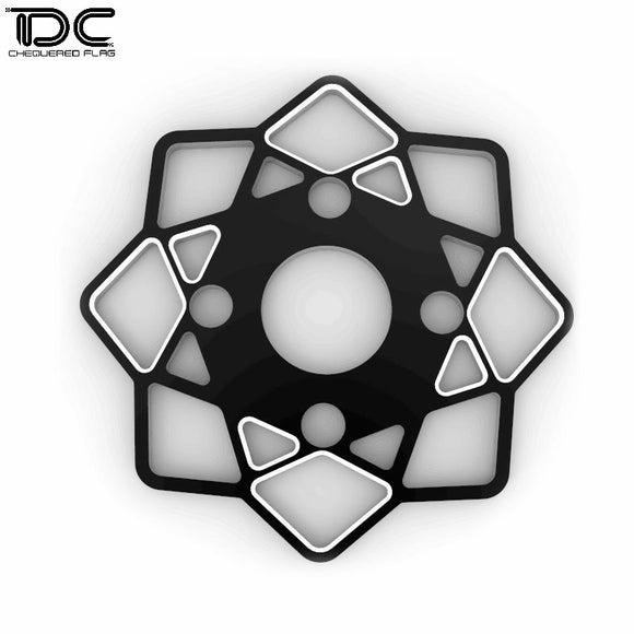 DC RC 1:10 Black Big Gear Cover For YD2 /RMX DCB-9011 (1pcs)