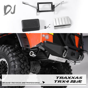 DC-DJ RC 1:10 Simulation Metal Fuel And Exhaust Pipe Kit For TRAXXAS TRX-4 Defender/BRNORO (1KIT)