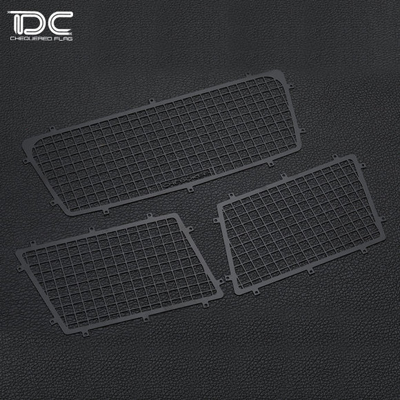 DC RC 1:10  Rear Windows Guard Mesh Kit For SCX10 II/90046 Car DC-50895 (3pcs)
