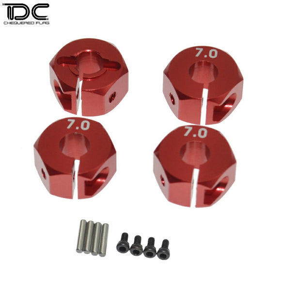 DC RC 1:10 Adjustable Aluminum 7.0mm Wheel Hex 12mm Suit For Crawler Car (4PCS)