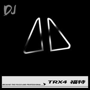 DC-DJ RC 1:10 Front Car Metal Triangle Decoration Part For TRAXXAS TRX-4 FORD BRONCO DJI-1024 (1PAIR)