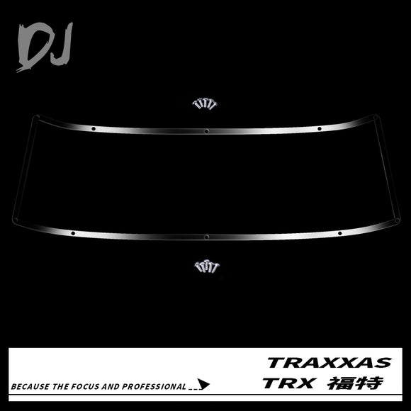 DC-DJ RC 1:10 Metal Stainless Steel Front Windshield Mirror Decorative Strip For TRAXXAS TRX-4 FORD BRONCO DJC-0425 (1PCS)
