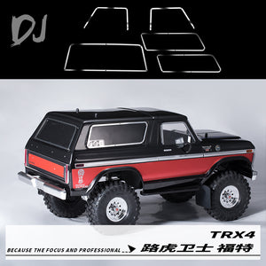 DC-DJ RC 1:10 Metal Stainless Steel Car Window Border Frame For TRAXXAS TRX-4 FORD BRONCO DJC-0442 (1KIT)