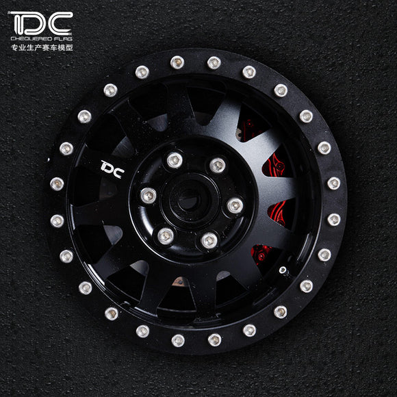 DC RC 1:10 Scale 2.2 inch CNC Machined Beadlock Crawler Aluminum Wheel  (SD Version)  (2pcs)
