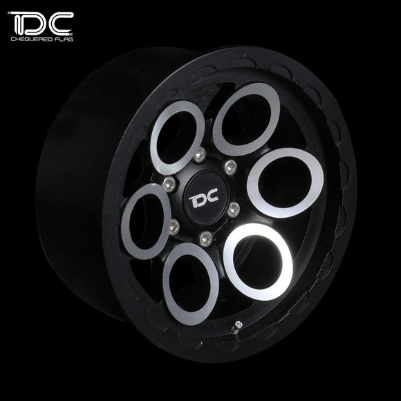 DC 1:10 RC 2.2inch Simulation Crawler Metal Wheel 12mm Hex (Magnus Version) Black DC-90435 (2pcs)
