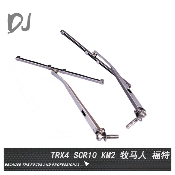 DC RC 1:10 Simulation Metal Rain Wiper For TRAXXAS TRX-4 AXIAL SCX10 JEEP Wrangler TAMIYA KM2 (2PCS) DJI-1016