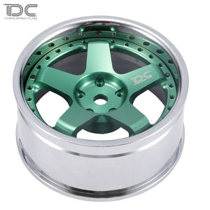 DC RC 1:10 DC-GF WHEEL +6&+9 OFFSET CHANGEABLE FOR DRIFT ON ROAD RWD AWD DCA-0026GN (4PCS)